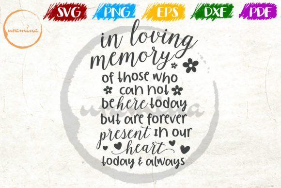 Download Free In Loving Memory Of Those Who Can Not Graphic By Uramina for Cricut Explore, Silhouette and other cutting machines.