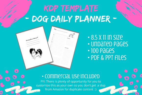 Print on Demand: KDP Interior - Dog Lover Daily Planner Graphic KDP Interiors By Tomboy Designs