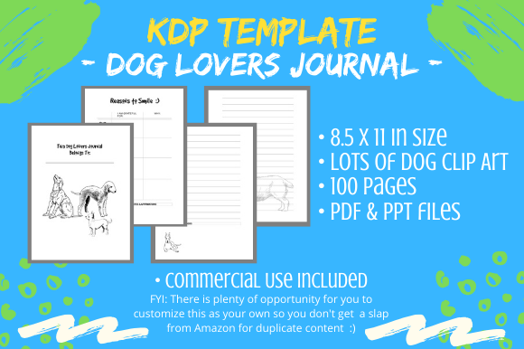 Print on Demand: KDP Interior - Dog Lovers Journal Diary Graphic KDP Interiors By Tomboy Designs