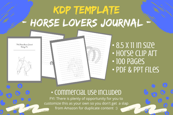 Print on Demand: KDP Interior - Horse Lovers Journal Graphic KDP Interiors By Tomboy Designs