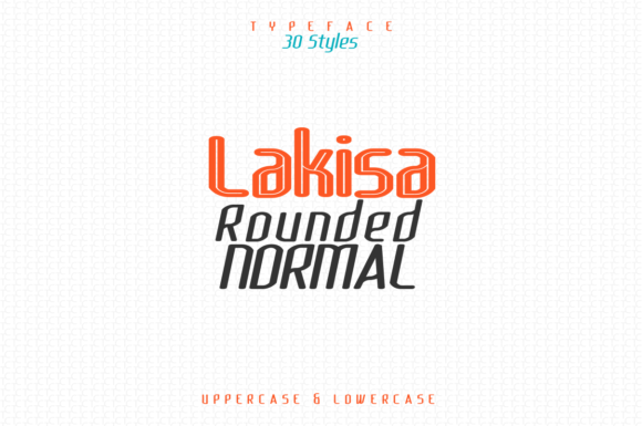 Download Free Lakisa Rounded Font By Audrykitoko Creative Fabrica for Cricut Explore, Silhouette and other cutting machines.