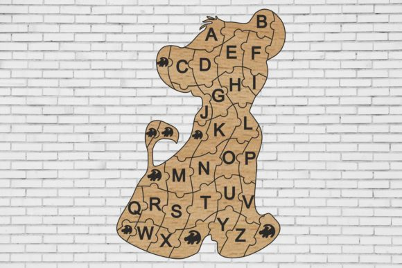 Lion Puzzle Alphabet Cutting File Graphic By Bn3300877