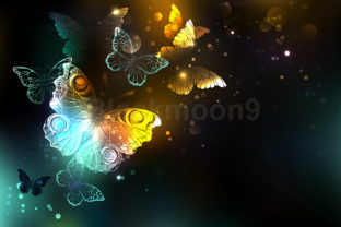 Luminous Butterfly Graphic Backgrounds By Blackmoon9