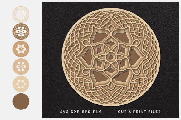 Download Free Golden Mandala Graphic By 2dooart Creative Fabrica for Cricut Explore, Silhouette and other cutting machines.