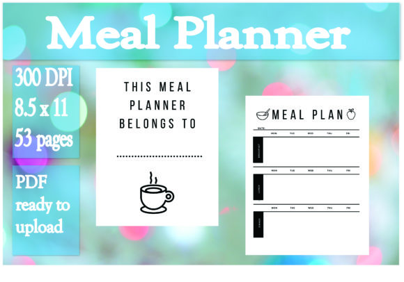 Print on Demand: Meal Planner Graphic KDP Interiors By Ivana Prue