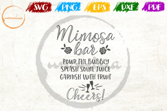 Download Free Mimosa Bar Pour The Bubbly Splash Some Graphic By Uramina for Cricut Explore, Silhouette and other cutting machines.