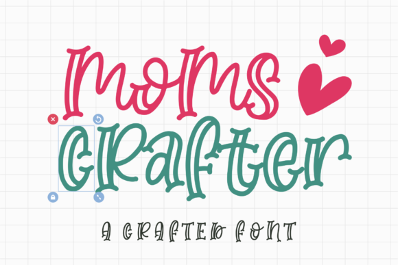 Print on Demand: Moms Crafter Display Font By Azetype