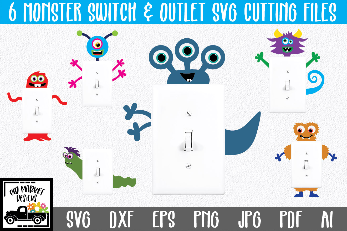 Download Free Monster Light Switch And Outlet Graphic By Oldmarketdesigns for Cricut Explore, Silhouette and other cutting machines.