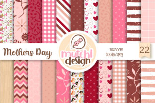 Mothers Day Digital Papers Graphic Backgrounds By Mutchi Design