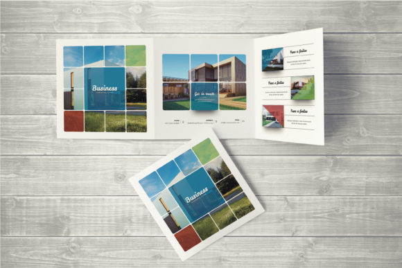 Download Free Multipurpose Square Brochure Graphic By Shapshapy Creative Fabrica for Cricut Explore, Silhouette and other cutting machines.