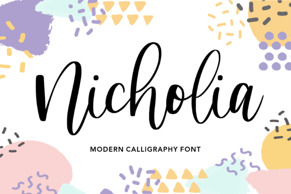 Print on Demand: Nicholia Script & Handwritten Font By Balpirick