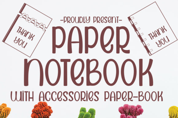 Print on Demand: Paper Notebook Script & Handwritten Font By edwar.sp111