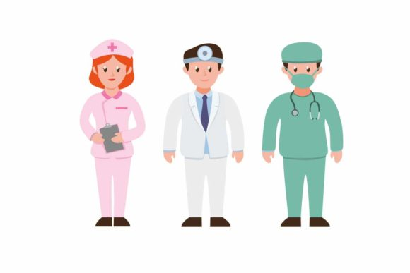 Download Free People Wearing Uniform For Hospital Job Graphic By Aryo Hadi for Cricut Explore, Silhouette and other cutting machines.