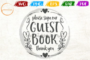 Download Free Please Sign Out Guest Book Thank You Graphic By Uramina for Cricut Explore, Silhouette and other cutting machines.
