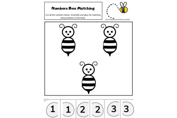 Preschool Number Matching Activity Graphic PreK By lifeandhomeschooling