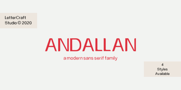 Print on Demand: Andallan Sans Serif Font By LetterCraft Studio