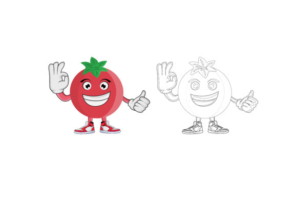 Download Free Promaganate Fruit Cartoon Character Graphic By Printablesplazza Creative Fabrica for Cricut Explore, Silhouette and other cutting machines.