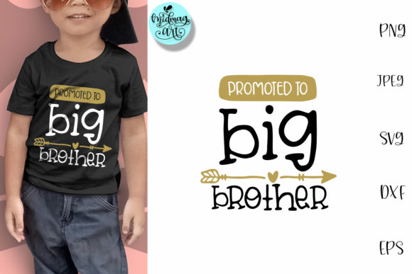 Download Free Promoted To Big Brother Kids Graphic By Midmagart Creative for Cricut Explore, Silhouette and other cutting machines.