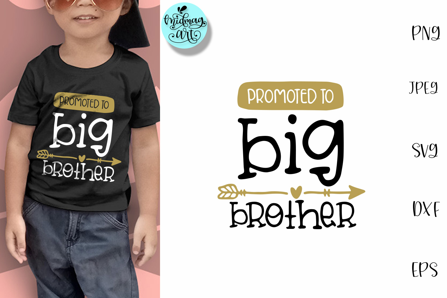 Download Free Promoted To Big Brother Kids Grafico Por Midmagart Creative for Cricut Explore, Silhouette and other cutting machines.