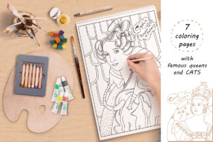 Print on Demand: Queens and Cats - Coloring Pages Graphic Coloring Pages & Books Kids By Zooza Art 2