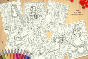 Print on Demand: Queens and Cats - Coloring Pages Graphic Coloring Pages & Books Kids By Zooza Art 3