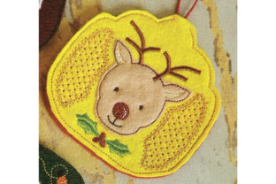 Raindeer Air Freshener Cover Woodland Animals Embroidery Design By Sookie Sews
