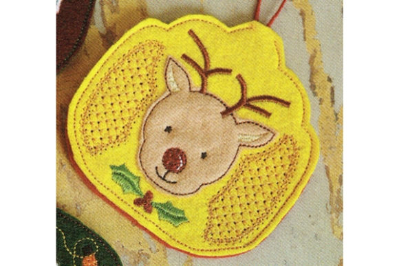 Raindeer Air Freshener Cover Woodland Animals Embroidery Design By Sue O'Very Designs
