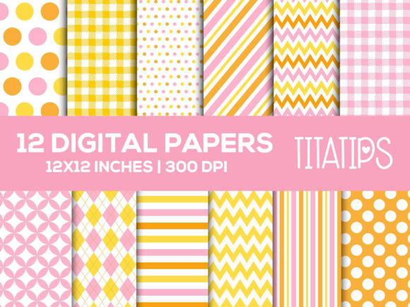 Rubber Duck Digital Paper, Girl Patterns Graphic Patterns By TitaTips