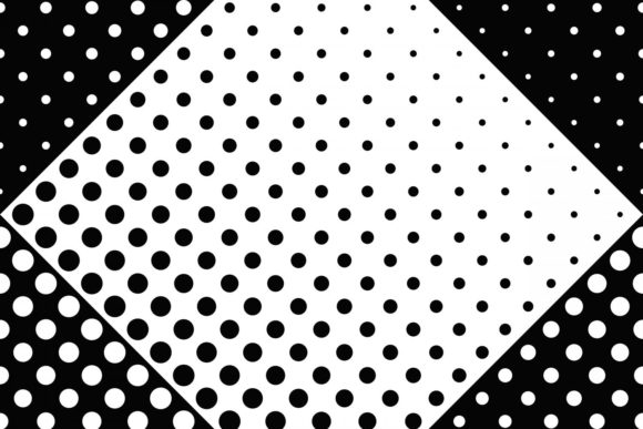 Download Free Seamless Halftone Dot Pattern Graphic By Davidzydd Creative for Cricut Explore, Silhouette and other cutting machines.