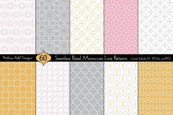 Download Free Seamless Pastel Moroccan Patterns Graphic By Melissa Held for Cricut Explore, Silhouette and other cutting machines.
