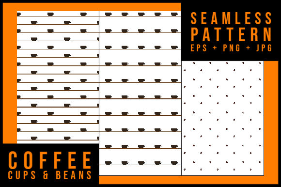 Download Free Seamless Pattern Coffee Cups Beans Graphic By Smnlbr34 for Cricut Explore, Silhouette and other cutting machines.