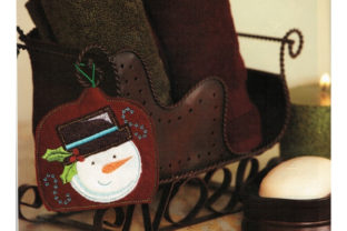 Snowman Air Freshener Cover Winter Embroidery Design By Sookie Sews
