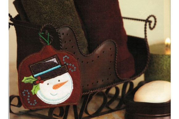 Snowman Air Freshener Cover Winter Embroidery Design By Sue O'Very Designs