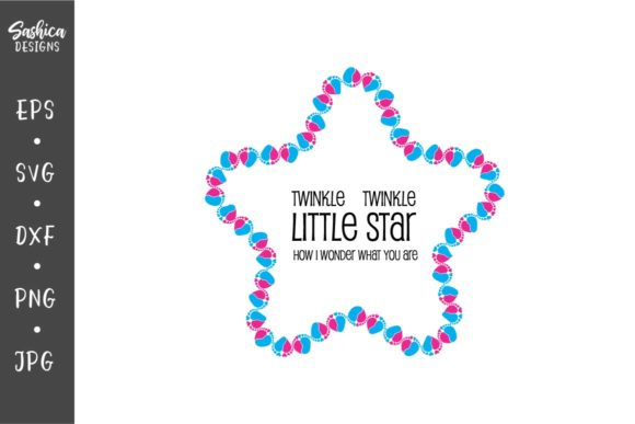 Download Free Star With Baby Feet And Heart Graphic By Sashica Designs for Cricut Explore, Silhouette and other cutting machines.