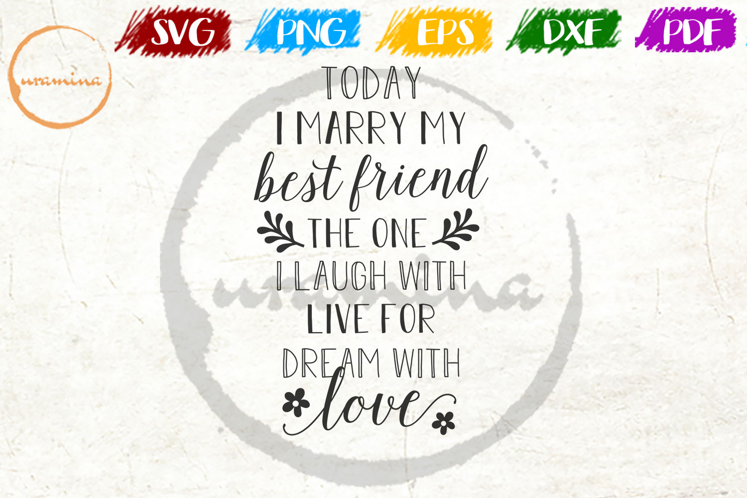 Download Free Today I Marry My Best Friend Graphic By Uramina Creative Fabrica for Cricut Explore, Silhouette and other cutting machines.