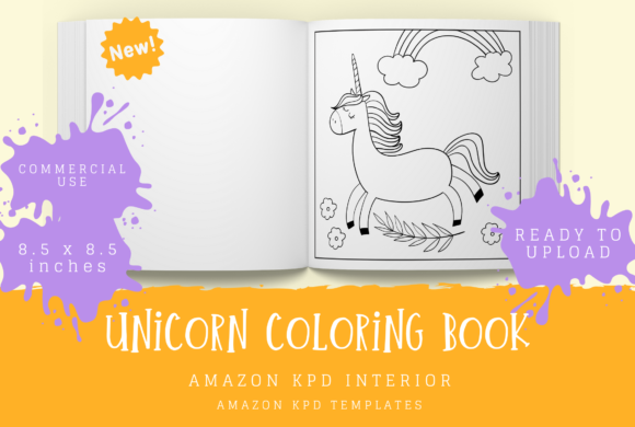 Print on Demand: Unicorn Coloring Book for Kids Graphic Coloring Pages & Books Kids By KDP Template Designs