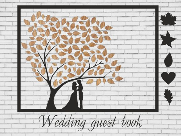 Download Free Wedding Guest Book Graphic By Bn3300877 Creative Fabrica for Cricut Explore, Silhouette and other cutting machines.