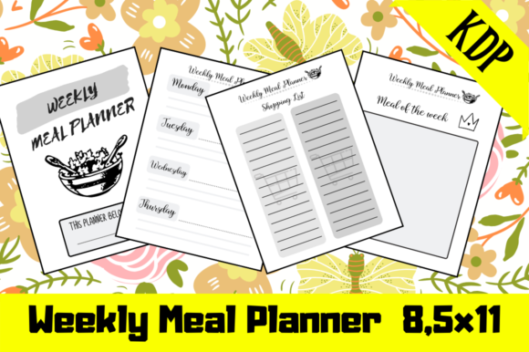 Print on Demand: Weekly Meal Planner | KDP Interior Graphic KDP Interiors By KDP Mastermind