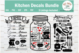 Welcome to Our Kitchen, Family Recipe  Graphic Crafts By redearth and gumtrees