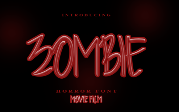 Print on Demand: Zombie Script & Handwritten Font By Inermedia STUDIO