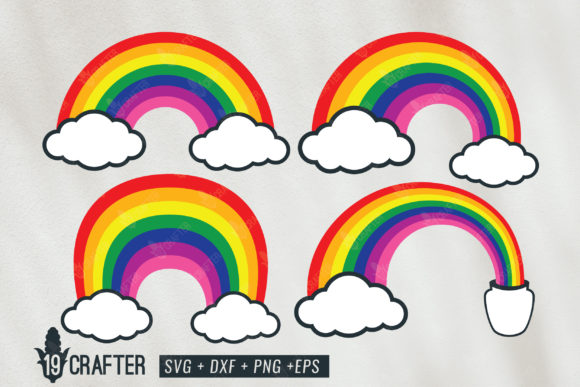 Download Free Rainbow Layered Bundle Graphic By Great19 Creative Fabrica for Cricut Explore, Silhouette and other cutting machines.