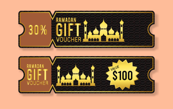 Download Free Ramadan Kareem Gift Voucher Template Graphic By Ngabeivector for Cricut Explore, Silhouette and other cutting machines.