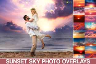 100 Sunset Sky Photo Overlays, Photoshop Graphic Actions & Presets By 2SUNS