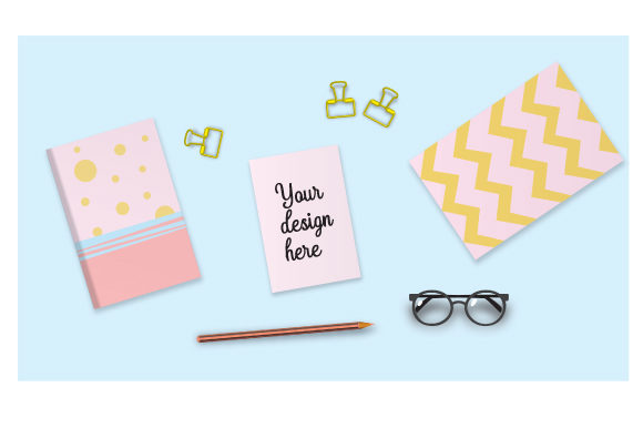 Girl's Desk Mockup Designs & Drawings Craft Cut File By Creative Fabrica Crafts