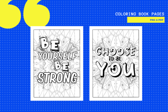 Print on Demand: 6 Quote Coloring Pages Graphic Coloring Pages & Books Adults By yumbeehomeschool - Image 2