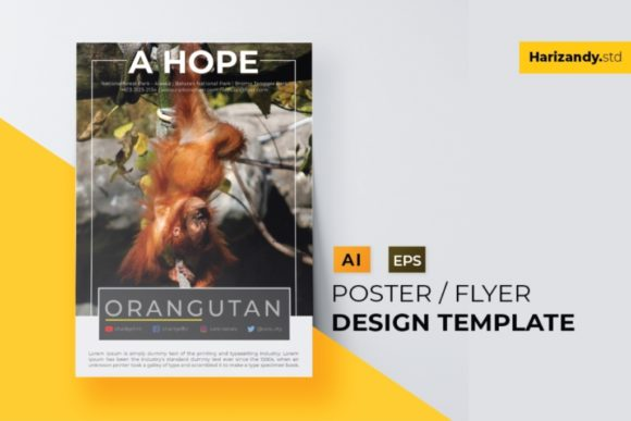 Animal Hope Graphic Print Templates By harizandy