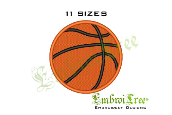 Basketball Sports Embroidery Design By EmbroiTree