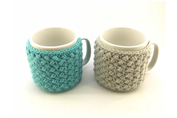 Bean Stitch Mug Cozy Graphic Crochet Patterns By myoumaralie