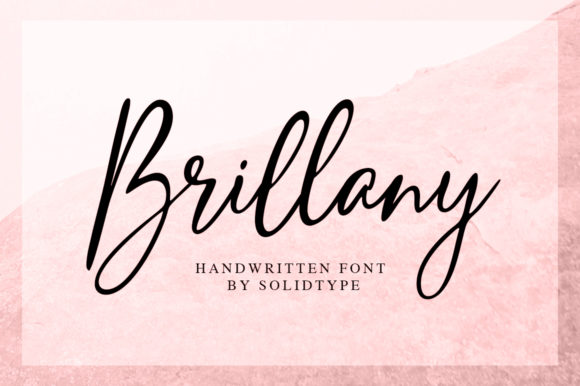 Print on Demand: Brillany Script & Handwritten Font By Solidtype