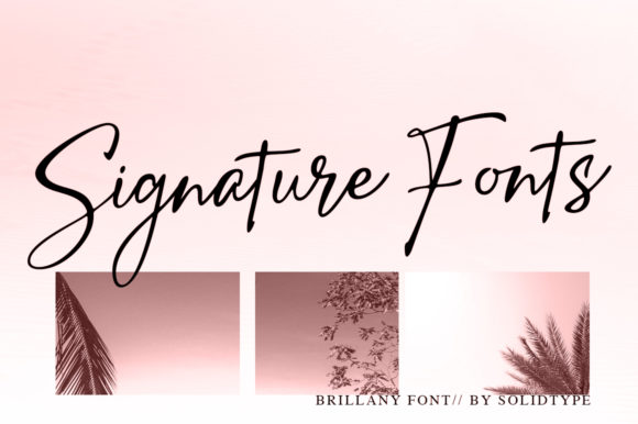 Print on Demand: Brillany Script & Handwritten Font By Solidtype - Image 5